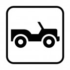 Jeep sign , decals stickers