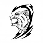Lion roar logo, decals stickers