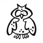 Owl, decals stickers