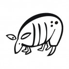 Armadillo, decals stickers