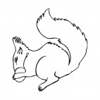 Squirrel eating, decals stickers