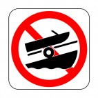 No boat launching allowed sign, decals stickers