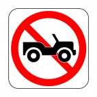 No jeep allowed sign, decals stickers