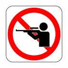 No hunting allowed sign, decals stickers