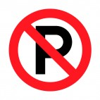 No parking allowed sign, decals stickers