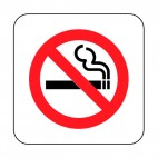 No smoking allowed sign, decals stickers