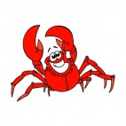 Fat crab smiling, decals stickers