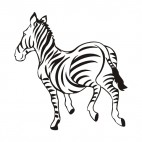 Zebra running, decals stickers