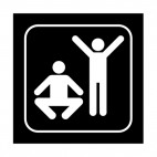Aerobic sign, decals stickers