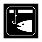 Ice fishing sign, decals stickers