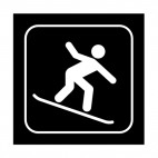 Snowboarding sign, decals stickers