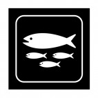 Fish park sign, decals stickers