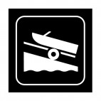 Boat launching area sign, decals stickers