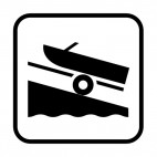 Boat launching area , decals stickers