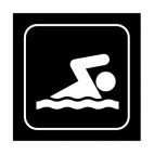 Swimming sign, decals stickers