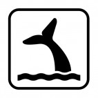 Whale sign, decals stickers