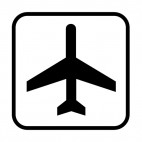 Air transportation sign, decals stickers