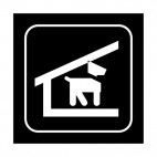 Dog shelter sign, decals stickers