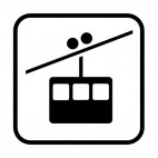 Aerial tramway sign, decals stickers