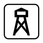 Observatory tower sign, decals stickers