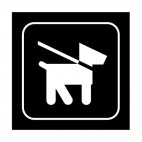 Dog on a leash sign, decals stickers