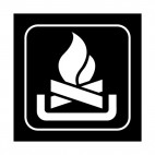 Fire camp sign, decals stickers