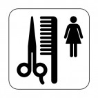 Beauty salon sign, decals stickers