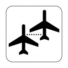 Airplane boarding sign, decals stickers