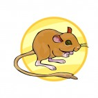 Brown jerboa, decals stickers
