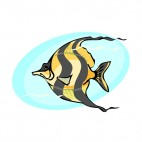 Tiger fish underwater, decals stickers
