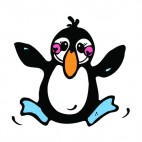 Penguin cheering, decals stickers