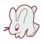 Grey rabbit, decals stickers