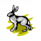 Grey hare, decals stickers