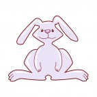 Rabbit with long ears, decals stickers