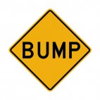 Bump warning sign, decals stickers