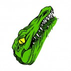 Alligator head drawing, decals stickers