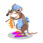 Grand mother rat knitting, decals stickers