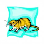 Brown rat, decals stickers