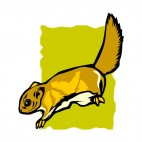 Brown squirrel , decals stickers