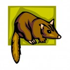 Brown marten, decals stickers
