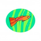 Red comet underwater, decals stickers