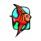 Red goldfish, decals stickers