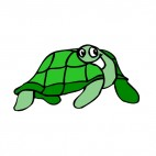 Turtle smiling, decals stickers
