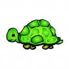 Green turtle, decals stickers