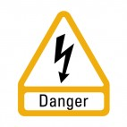 Electric danger sign, decals stickers
