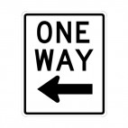One way sign, decals stickers