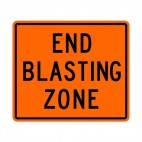 End blasting zone sign, decals stickers