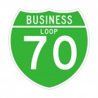 Business loop 70 route sign, decals stickers