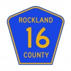 Rockland 16 county route sign, decals stickers