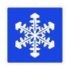Snowflake sign, decals stickers